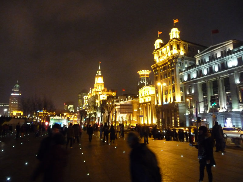 The Bund - Uferpromenade in Shanghai